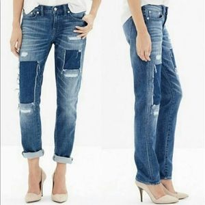Madewell the Slim Boy Jean Patched Up Edition